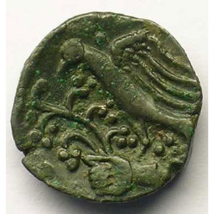 Bronze PIXTILOS à l'oiseau et à la main    TTB+