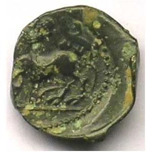 Bronze PIXTILOS à la louve et au lézard    TB/TB+