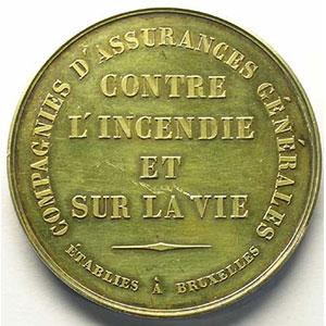 Bruxelles   Médaille en argent   49mm    TTB