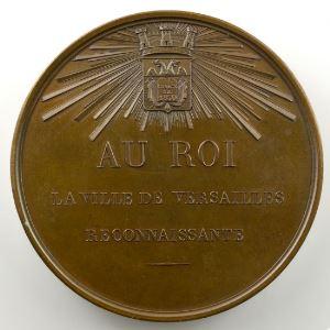 CAQUE   Médaille en bronze   Inauguration des Galeries Historiques du Château de Versailles   57mm   10 juin 1837    SUP