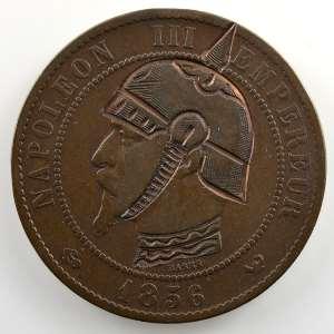 casque à pointe sur 10 cent.   1856 W    TB/TB+