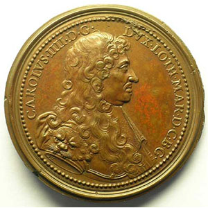 Charles IV   bronze   47,5 mm    SUP