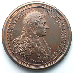 Charles IV   bronze   47 mm    SUP