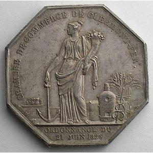 Clermont-Ferrand   jeton octogonal en argent   Louis-Philippe I    SUP
