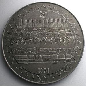 COËFFIN   Centenaire de la Banque de l'Algérie et de la Tunisie   1851-1951   argent   76mm    SUP/FDC