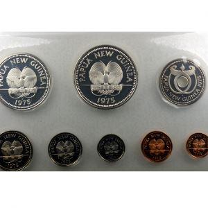 coffret de 8 pièces dont 2 en argent  Proof Set   1975    PROOF