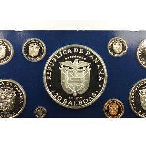 coffret de 9 pièces dont 3 en argent  Proof Set   1975   Simon Bolivar    PROOF