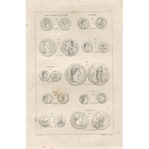 COHEN H.   Description historique des monnaies frappées sous l'empire romain   tome VII de la première édition  Supplément