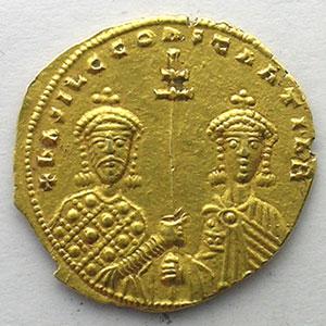 Numismatic foto  Coins Byzantine coins Basil II and Constantine VIII   (976-1025) Tetarteron Nomisma Constantinople    TTB+/SUP