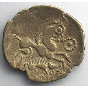Numismatic foto  Coins Celtic coins Aulerques Eburovices Hémistatère d'or bas au sanglier    TB+/TTB