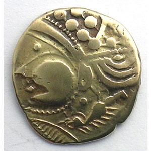 Numismatic foto  Coins Celtic coins Aulerques Eburovices Hémistatère d'or bas au sanglier    TTB