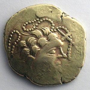 Numismatic foto  Coins Celtic coins Namnètes Statère d'électrum au génie hippophore    TB+/TTB