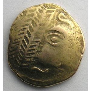 Numismatic foto  Coins Celtic coins Leuques Statère d'or   (milieu du 2° siècle av. JC)    TB+