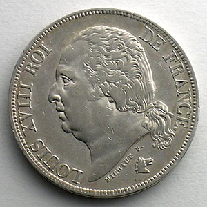 Numismatic foto  Coins Coins of France 1793-1959 2 Francs G.513   Louis XVIII 1817 A  (Paris)    TTB+