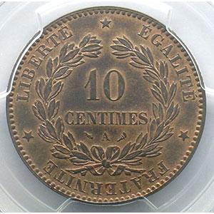 Numismatic foto  Coins Coins of France 1793-1959 10 Centimes G.265   Cérès 1898 A  (Paris)    PCGS-MS63RB    SUP/FDC