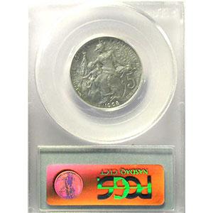 Numismatic foto  Coins Coins of France 1793-1959 5 Centimes G.165   Dupuis 1908 Essai en aluminium   PCGS-MS62    SUP/FDC