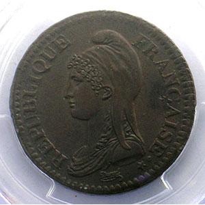 Numismatic foto  Coins Coins of France 1793-1959 2 Décimes G.300   Directoire AN 4 A  (Paris)    PCGS-MS62BN    SUP/FDC