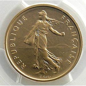 Numismatic foto  Coins Coins of France   1959-2001 Piéforts V° République G.771P   5 Francs   1970 or    PCGS-SP68    FDC