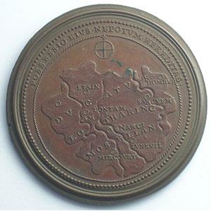 Numismatic foto  Coins Coins of Lorraine Medals Ferd. de Saint Urbain   série des Ducs de Lorraine Albert   bronze   47 mm    TTB+