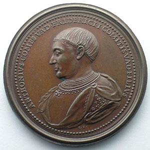 Numismatic foto  Coins Coins of Lorraine Medals Ferd. de Saint Urbain   série des Ducs de Lorraine Antoine, comte de Vaudémont   bronze   47 mm    SUP