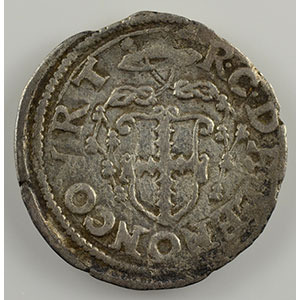 Numismatic foto  Coins Coins of Lorraine Bishopric of Metz Robert of Lenoncourt   (1551-1555) Bugne   Vic-sur-Seille    TB/TB+