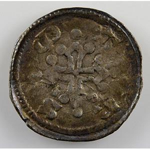 Numismatic foto  Coins Coins of Lorraine Bishopric of Metz Adhémar de Monthil   (1327-1361) Denier   Marsal    TTB