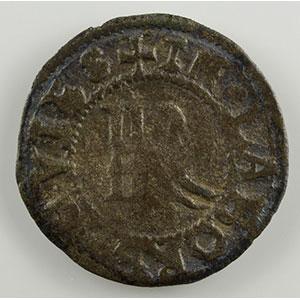 Numismatic foto  Coins Coins of Lorraine Bishopric of Metz Robert of Lenoncourt   (1551-1555) Double denier de billon   Vic-sur-Seille    TB/TB+