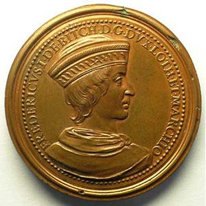 Numismatic foto  Coins Coins of Lorraine Medals Ferd. de Saint Urbain   série des Ducs de Lorraine Ferry I   bronze   47 mm    TTB