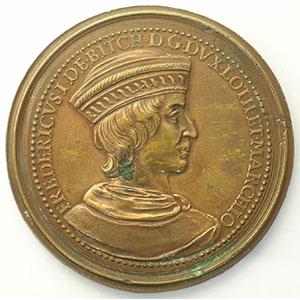 Numismatic foto  Coins Coins of Lorraine Medals Ferd. de Saint Urbain   série des Ducs de Lorraine Ferry I   bronze   47 mm    TTB+