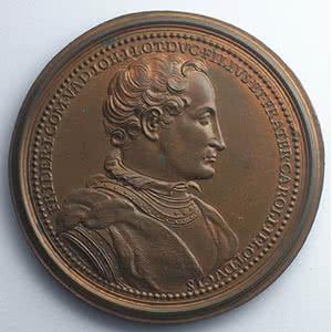 Numismatic foto  Coins Coins of Lorraine Medals Ferd. de Saint Urbain   série des Ducs de Lorraine Ferry I, Comte de Vaudémont   bronze   47,5 mm    SUP
