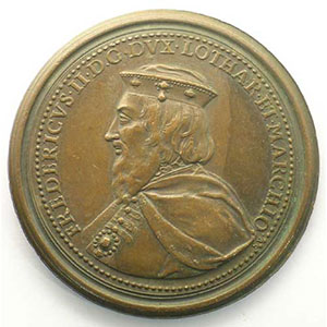 Numismatic foto  Coins Coins of Lorraine Medals Ferd. de Saint Urbain   série des Ducs de Lorraine Ferry II   bronze   47 mm    TTB+