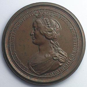 Numismatic foto  Coins Coins of Lorraine Medals Ferd. de Saint Urbain   série des Ducs de Lorraine Ferry II, Comte de Vaudémont   bronze   47 mm    TTB+/SUP