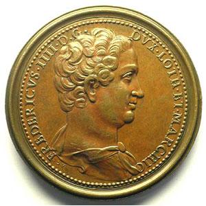 Numismatic foto  Coins Coins of Lorraine Medals Ferd. de Saint Urbain   série des Ducs de Lorraine Ferry IV   bronze   46 mm    TTB+