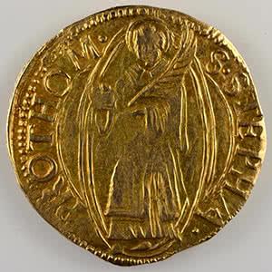 Numismatic foto  Coins Coins of Lorraine City of Metz Monnaies de la Cité Florin d'or non daté (fin XV°s - 1620)    TTB
