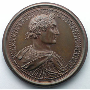 Numismatic foto  Coins Coins of Lorraine Medals Ferd. de Saint Urbain   série des Ducs de Lorraine Gérard d'Alsace   bronze   47 mm    SUP