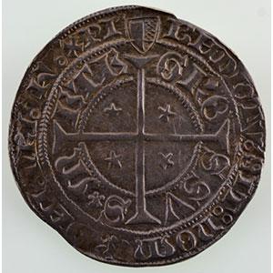 Numismatic foto  Coins Coins of Lorraine City of Metz Monnaies de la Cité Gros au Saint-Etienne agenouillé (début XV°s  - fin du XVI°s)    TTB+