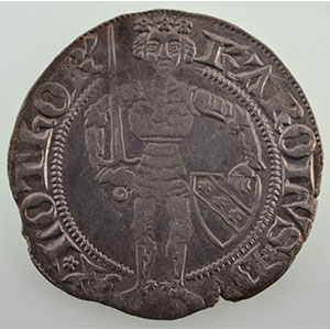Numismatic foto  Coins Coins of Lorraine Duchy of Lorraine Charles II   (1390-1431) Gros   NANCY    TB+/TTB