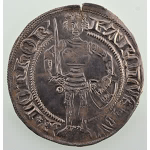 Numismatic foto  Coins Coins of Lorraine Duchy of Lorraine Charles II   (1390-1431) Gros   NANCY    TTB+/SUP