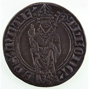 Numismatic foto  Coins Coins of Lorraine Bishopric of Metz Thierry V de Boppart   (1365-1384) Gros    TTB+