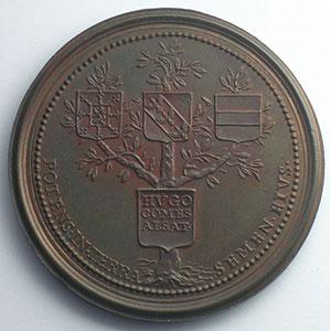 Numismatic foto  Coins Coins of Lorraine Medals Ferd. de Saint Urbain   série des Ducs de Lorraine Hugues   bronze   47 mm    SUP
