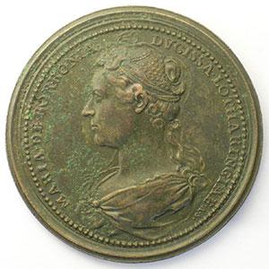 Numismatic foto  Coins Coins of Lorraine Medals Ferd. de Saint Urbain   série des Ducs de Lorraine Jean II d'Anjou   bronze   46 mm    TTB corrosion au revers