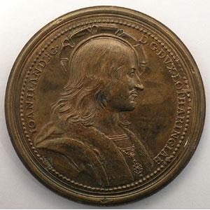 Numismatic foto  Coins Coins of Lorraine Medals Ferd. de Saint Urbain   série des Ducs de Lorraine Jean II d'Anjou   bronze   47 mm    TTB+/SUP