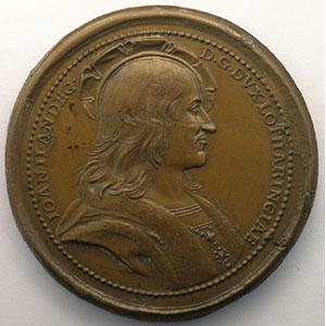 Numismatic foto  Coins Coins of Lorraine Medals Ferd. de Saint Urbain   série des Ducs de Lorraine Jean II d'Anjou   bronze   47 mm    TTB+