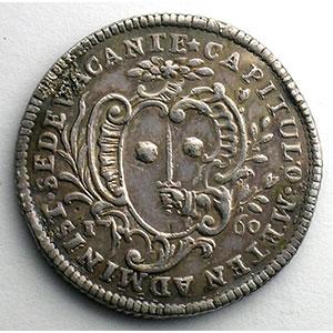 Numismatic foto  Coins Coins of Lorraine Bishopric of Metz Jetons du siège vacant Jeton rond en argent   Siège vacant de 1760    TTB