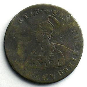 Numismatic foto  Coins Coins of Lorraine Bishopric of Metz Jetons du siège vacant Jeton rond en cuivre   Siège vacant de 1697    B-