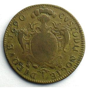 Numismatic foto  Coins Coins of Lorraine City of Metz Jetons de maîtres échevins Louis-François Jeoffroy   (1690-1692)   1690   cuivre    TB