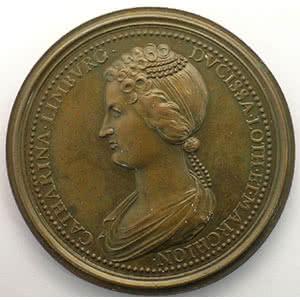 Numismatic foto  Coins Coins of Lorraine Medals Ferd. de Saint Urbain   série des Ducs de Lorraine Mathieu II   bronze   47 mm    TTB+/SUP