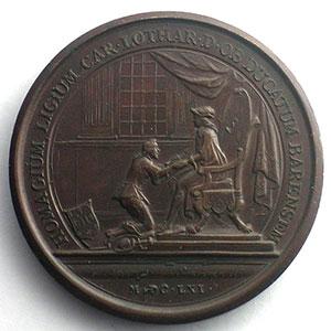 Numismatic foto  Coins Coins of Lorraine Medals Charles IV réintégré   (1661-1670) MAUGER   Charles IV rend hommage pour le Duché de Lorraine   1661   bronze   41mm    SUP