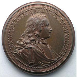 Numismatic foto  Coins Coins of Lorraine Medals Ferd. de Saint Urbain   série des Ducs de Lorraine Nicolas d'Anjou   bronze   47,5 mm    SUP