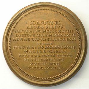 Numismatic foto  Coins Coins of Lorraine Medals Ferd. de Saint Urbain   série des Ducs de Lorraine Nicolas d'Anjou   bronze   47,5 mm    TTB/TTB+